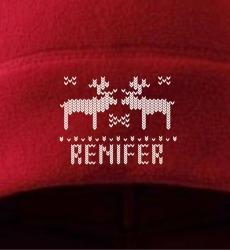 renifer-czapki-polarowe-z-haftem